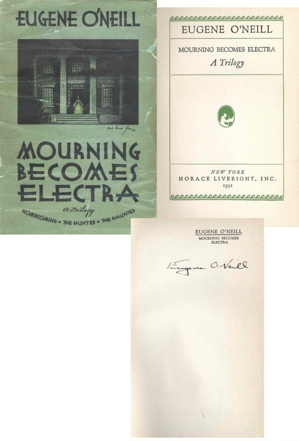 Book Mourning Electra Eugene O'Neill Signed DJ BS