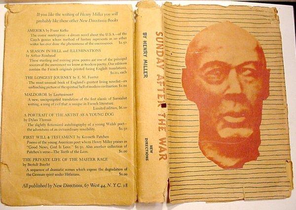 Book Sunday After War Henry Miller First Edition 1944