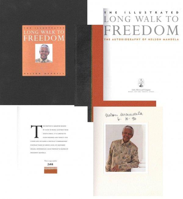 Book Nelson Mandela Signed Limited Edition Long Walk