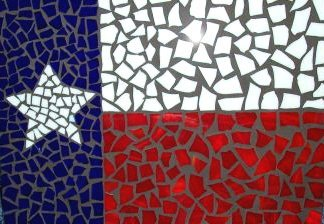 Texas Lone Star Flag Stained Glass Mosaic