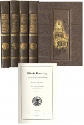 Book Illinois Democracy Walter Townsend First Edition