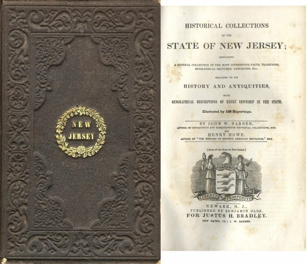 Book John Barber Historical New Jersey Map Illustrated