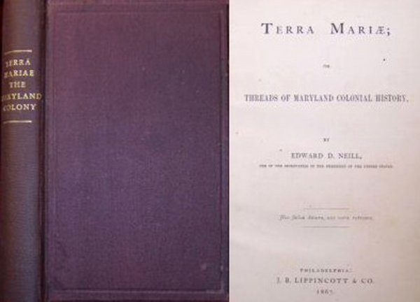 Book Terra Mariae Maryland Neill 1867 1st Edition