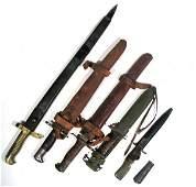 Weapon Lot 19th Century Bayonet Dagger Saber Krag CW