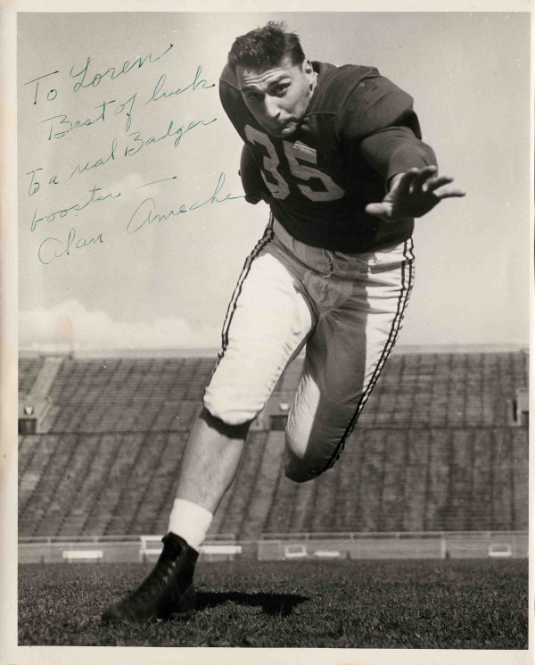 Photo Signed Alan Ameche WI Badger Baltimore Colts Sig