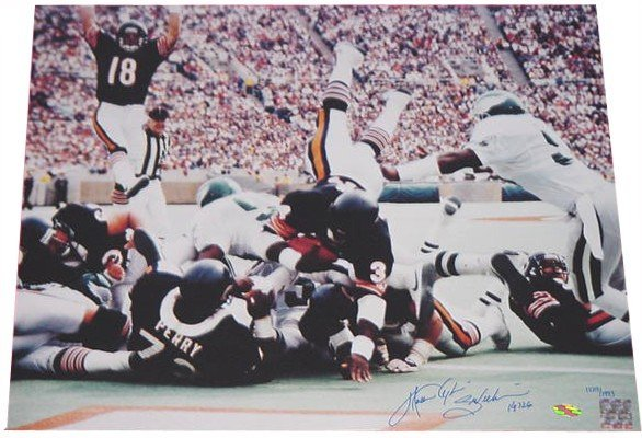 Photo Signed Walter Payton Football Autograph Touchdown