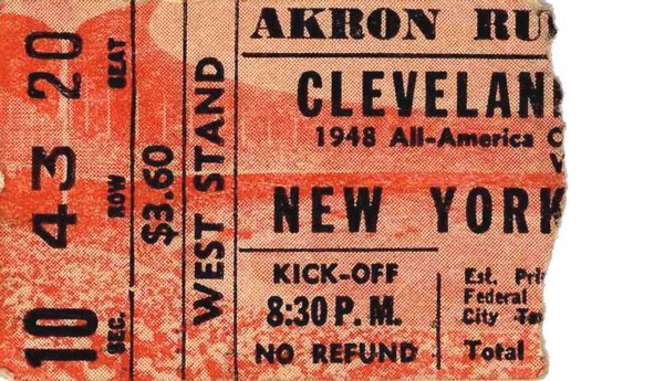 Cleveland Browns New York Yankees Ticket Rubber Bowl