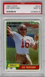 Football Card Joe Montana PSA/DNA 9 49ers Rare Rookie