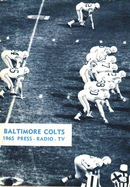 1965 Baltimore Colts Media Guide Johnny Unitas