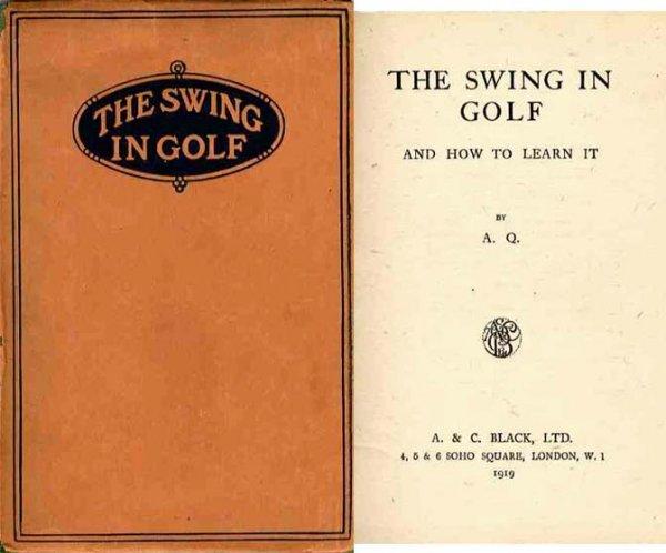 Book Swing Golf AQ Dustjacket Rare 1919 First Edition