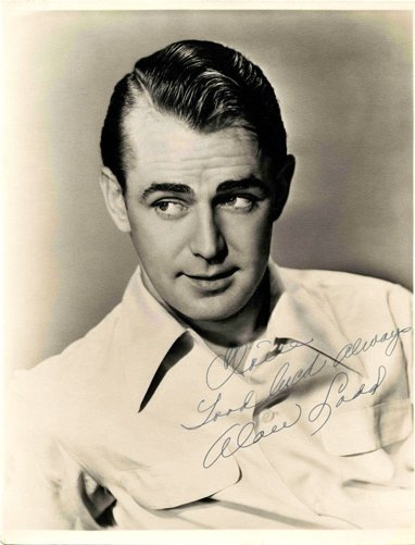 Alan Ladd Signed Photo Autograph Great Gatsby