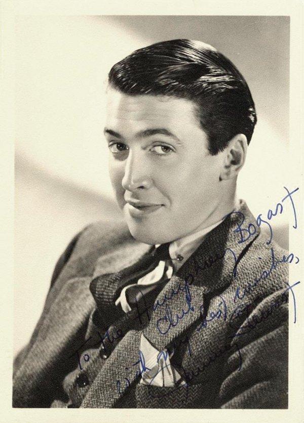 Jimmy Stewart Signed Photograph Portrait Autograph