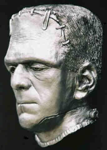 Boris Karloff Life Cast Mask Bride Frankenstein