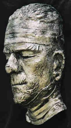 Boris Karloff Mummy Life Mask Statue