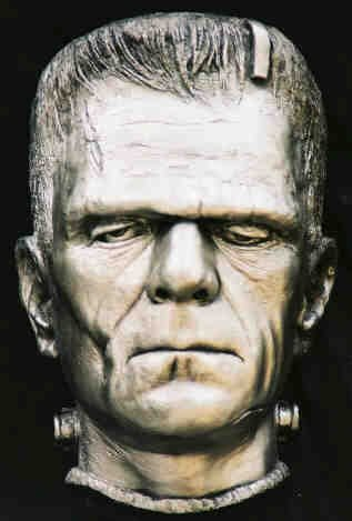Life Mask Boris Karloff  Frankenstein Silver