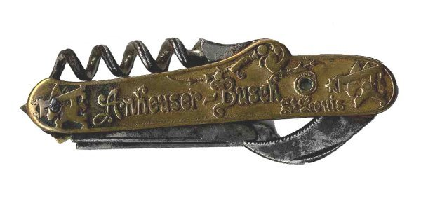 Anheuser Busch Corkscrew Pocket Knife Vintage