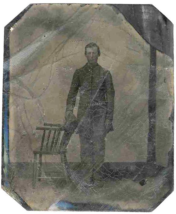 Rare Civil War Tintype Photo Confederate Soldier CW