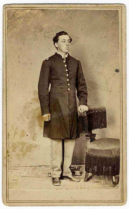 Civil War Soldier CDV 6th US Cavalry Officer Photo Pic