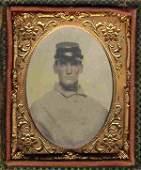 Rare Civil War Tintype Photograph Union Soldier CW Pic