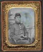 Rare Civil War Tintype Photo Uniformed Union Soldier CW
