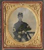 Civil War Soldier Tintype Union Sergeant Major Sword CW