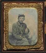 Civil War Soldier Tintype Full Uniform Photo Pic Tin CW