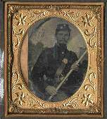 Civil War Soldier Tintype Armed Rifle Union Photo Pic