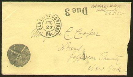 2362: Civil War Envelope Old Point Comfort VA