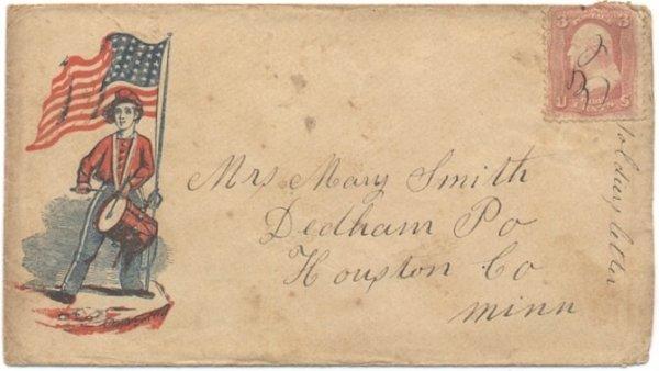 2363: Civil War Soldier Letter Patriotic Drummer ALS