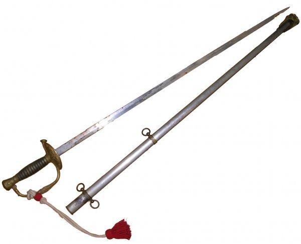 2366: Civil War Soldier Officer Sword Scabbard Weapon