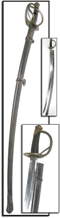 2368: 1857 Ames Heavy M 1840 Cavalry Saber Civil War Sw