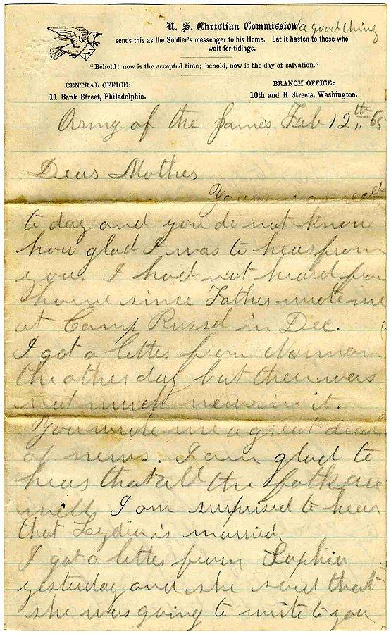 2369: Civil War Soldier Letter Signed Old Point ALS