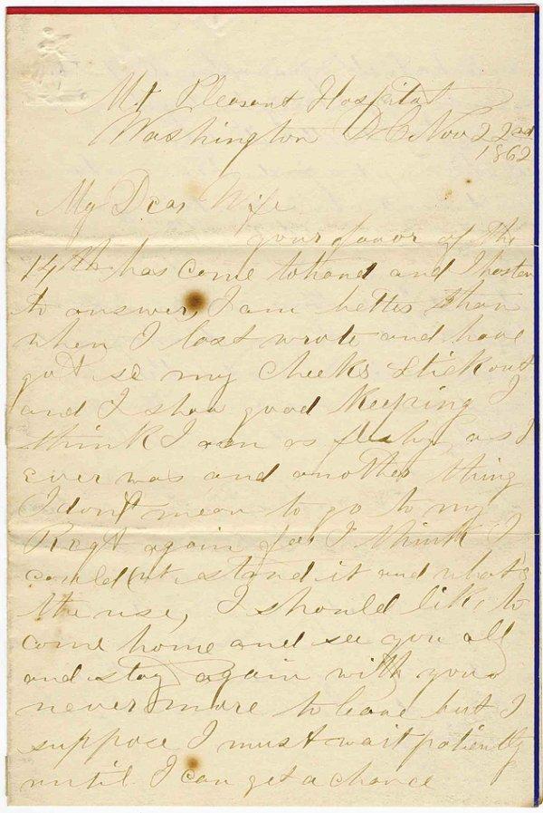 2370: Civil War Soldier 1862 Union Signed Letter McClel