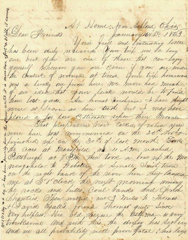 2376: CW Civil War Letter ALS Soldier Autograph Signed