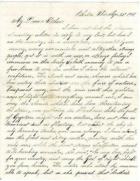 2382: Civil War Letter ALS Soldier 44th OH Infantry 186