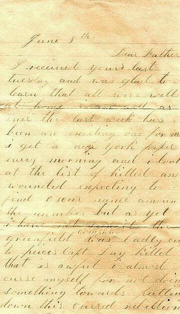 2383: Civil War Letter ALS Soldier 52nd MA Infantry 186