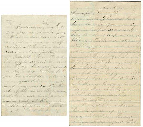 2610: Civil War Soldier 11th CT Infantry WIA Letters AL