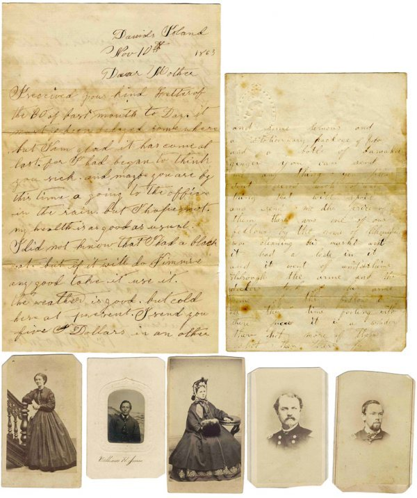 Civil War Soldier ALS Confederate Tintype Photo Letters