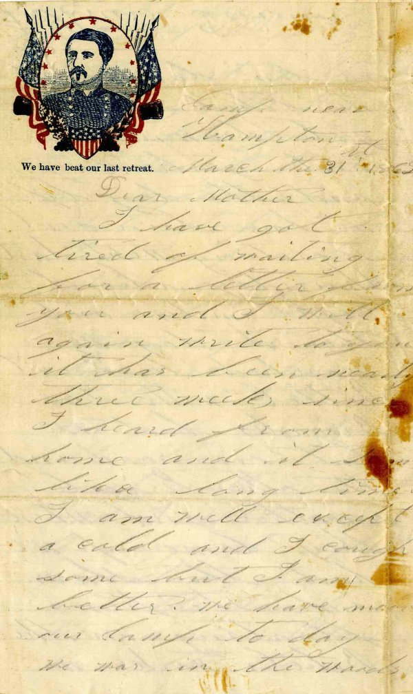 Civil War Letter ALS Soldier 17th NY Infantry KIA