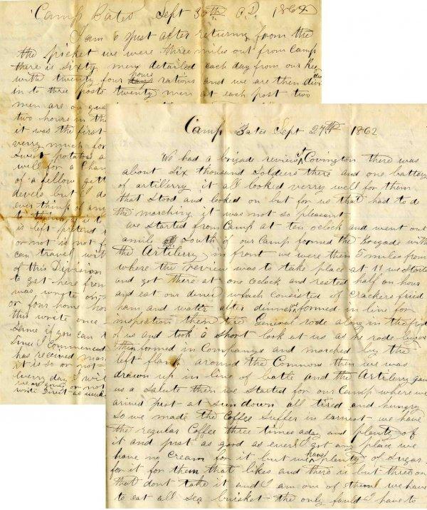 Civil War Soldier 23rd WI Infantry Signed Letters ALS