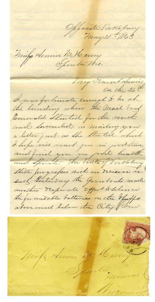 Civil War Soldier ALS Union Vicksburg Battle 1863