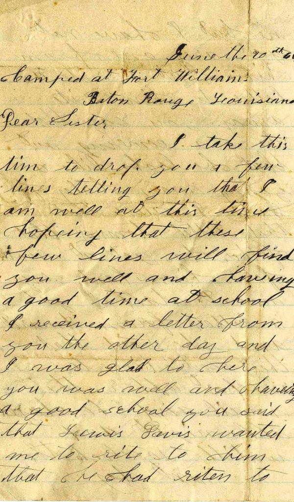 Civil War Soldier IN 1st Artillery Signed Letter 1864