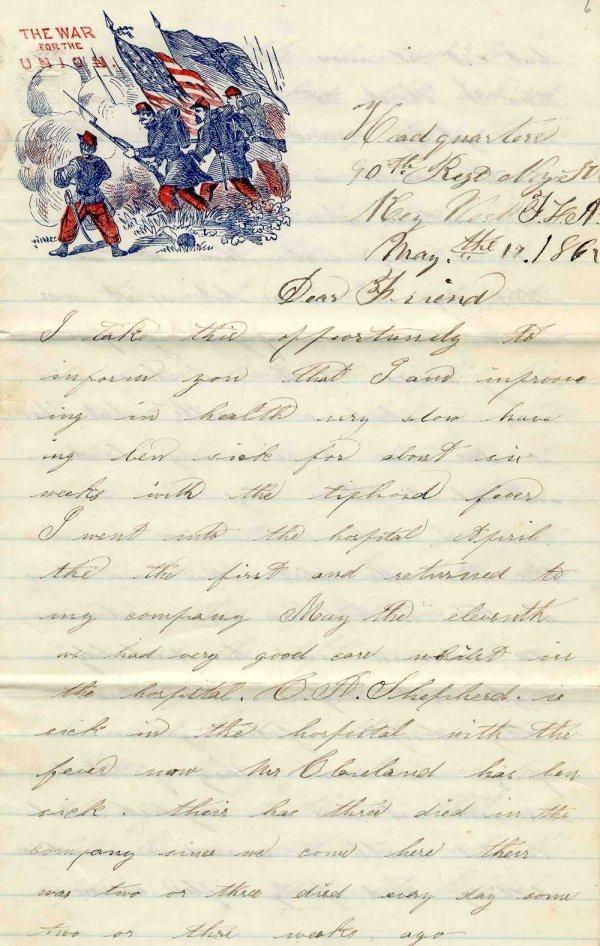 Civil War Soldier Letter 90th New York Infantry 1862 CW