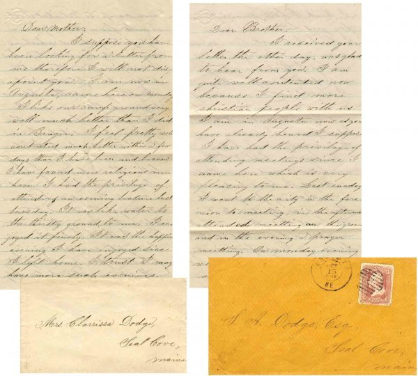 Civil War Soldier ME 28th Infantry Signed Letters 1862