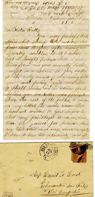 Civil War Soldier NH 4th Infantry Letter Petersburg ALS