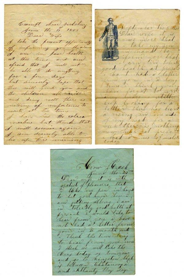 Civil War Solider Union Signed Letter Vicksburg ALS CW