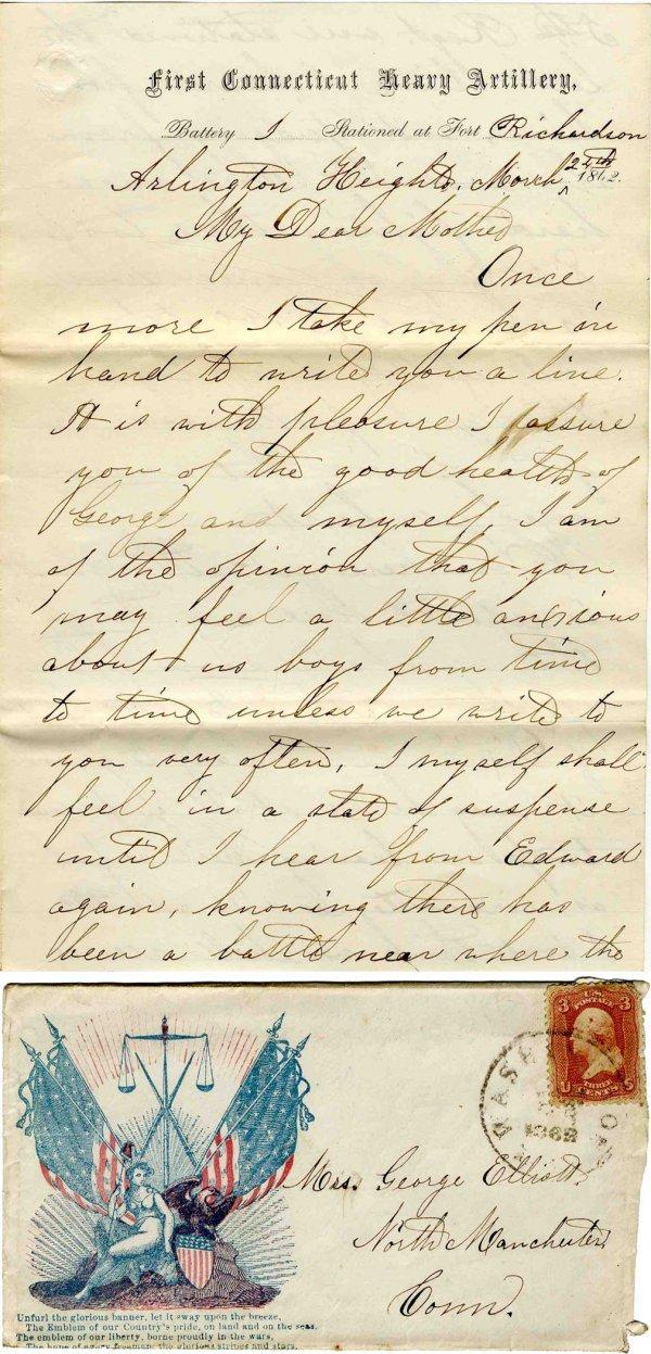 Connecticut Artillery ALS American Civil War Letter