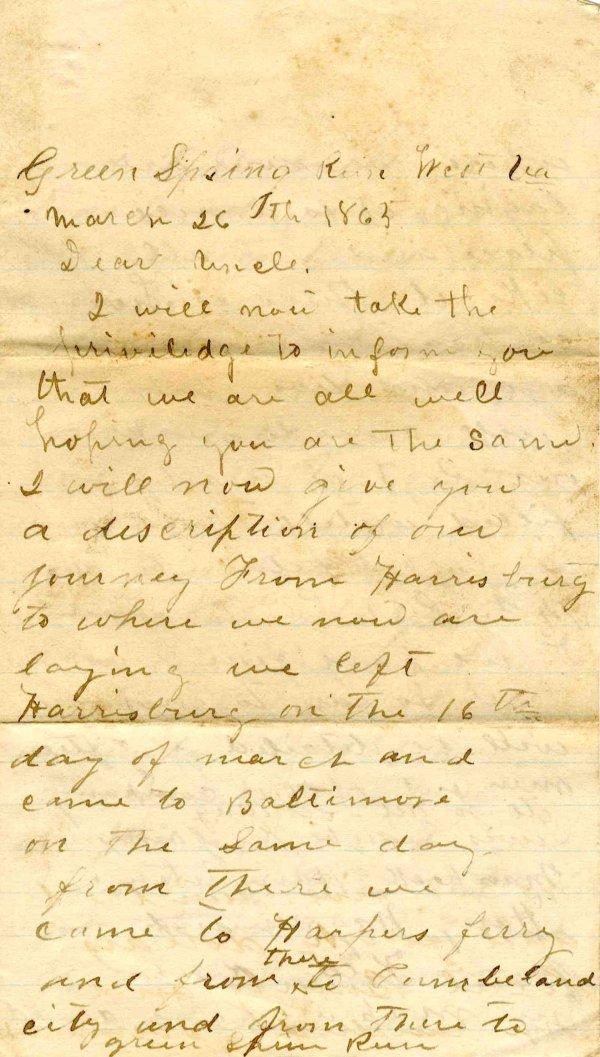Civil War Soldier 74th PA Infantry Signed Letter 1865