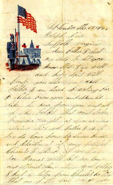 Civil War Soldier ALS 39th IL Infantry 1862 Letter CW
