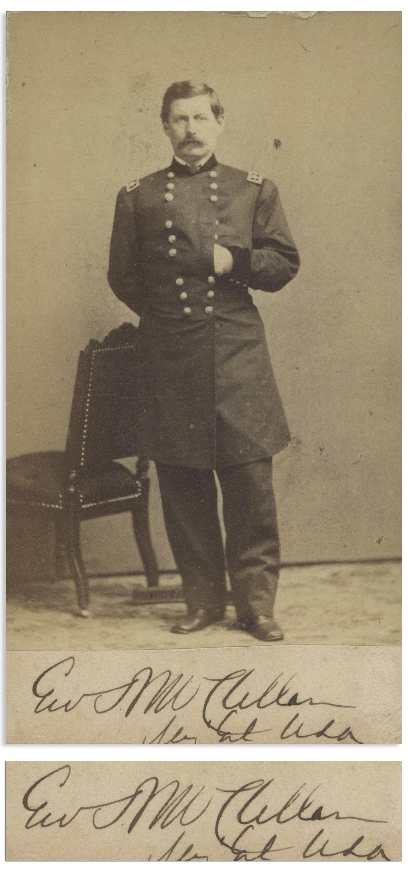 General George B. McClellan Signed CDV Photo